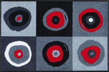 FUßMATTE 50/75 cm Graphik Grau, Rot, Schwarz  - Rot/Schwarz, Basics, Kunststoff/Textil (50/75cm) - Esposa
