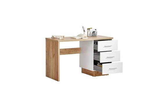 SCHREIBTISCH in Holzwerkstoff 120/75/50 cm  - Eichefarben/Alufarben, MODERN, Holzwerkstoff/Kunststoff (120/75/50cm) - Hom`in