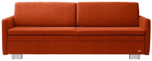SCHLAFSOFA in Textil Orange - Orange, KONVENTIONELL, Textil/Metall (216/84/92cm) - Sedda