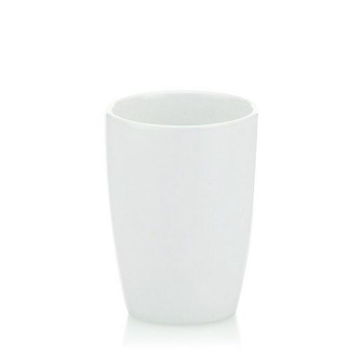 ZAHNPUTZBECHER - Weiß, Basics, Keramik (8/10,5cm)