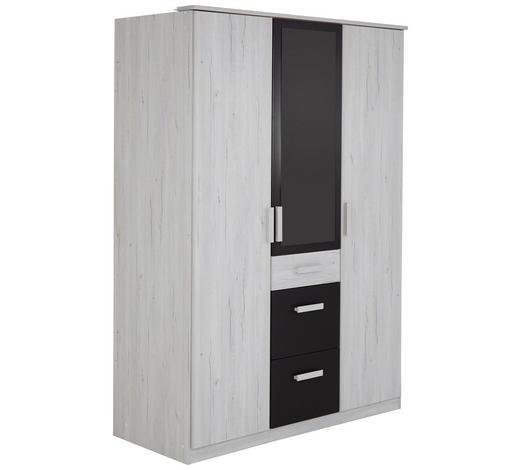 KLEIDERSCHRANK Graphitfarben, Weiß - Graphitfarben/Weiß, Design, Holzwerkstoff/Kunststoff (135/199/58cm) - Carryhome