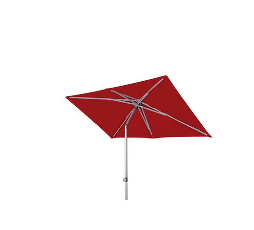 SONNENSCHIRM 220x130 cm Rot  - Rot/Alufarben, KONVENTIONELL, Textil/Metall (220/130cm) - Doppler
