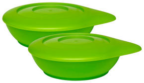BARNSKÅL - grön, Basics, plast (12cm) - My Baby Lou