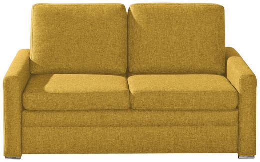 SCHLAFSOFA Webstoff Gelb - Chromfarben/Gelb, KONVENTIONELL, Textil/Metall (153/83/90cm) - NOVEL