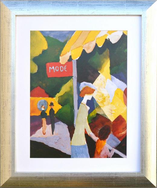 KUNSTDRUCK - Champagner/Multicolor, LIFESTYLE, Holz/Papier (49/59cm)