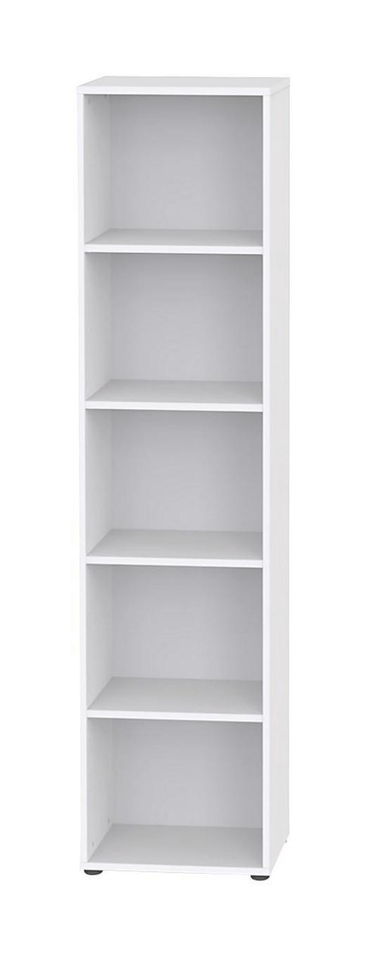 REGAL Weiß - Schwarz/Weiß, Design, Holz/Kunststoff (45/195,5/32,5cm) - WELNOVA
