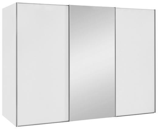 SCHWEBETÜRENSCHRANK 3-türig Weiß - Alufarben/Weiß, Design, Glas/Holzwerkstoff (280/222/68cm) - Moderano