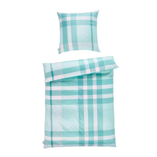 BETTWÄSCHE Satin Grün, Hellgrün, Weiß 155/220 cm - Hellgrün/Weiß, Design, Textil (155/220cm) - Tom Tailor