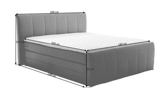 BOXSPRINGBETT 180/200 cm  in Grau - Grau, Design, Textil (180/200cm) - Carryhome
