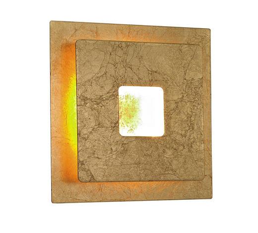 LED-WANDLEUCHTE - Goldfarben, Design, Kunststoff/Metall (18/18/6,5cm)