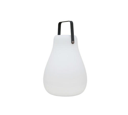 LED LEUCHTE KURBY 38 SOLAR - Weiß, Design, Kunststoff (27/45cm)