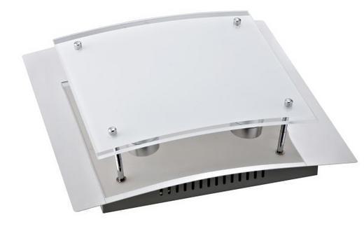 STROPNA LED SVETILKA MARCUS - krom, Konvencionalno, kovina/steklo (28/28/9cm) - Novel