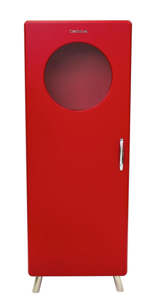 VITRINE Rot - Chromfarben/Rot, Design, Holzwerkstoff/Metall (56/150/43cm) - Carryhome