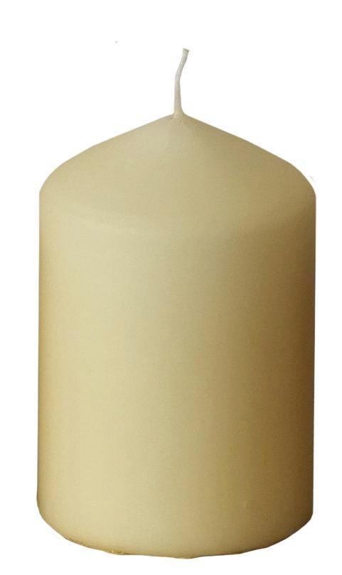 STUMPENKERZE - Champagner, Basics (6,7/10cm) - Ambia Home
