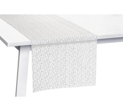 TISCHLÄUFER Textil Netz Weiß 45/140 cm  - Weiß, KONVENTIONELL, Textil (45/140cm)
