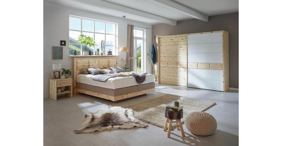 BOXSPRINGBETT 180/200 cm  in Beige - Beige, Natur, Holz/Textil (180/200cm) - Valnatura