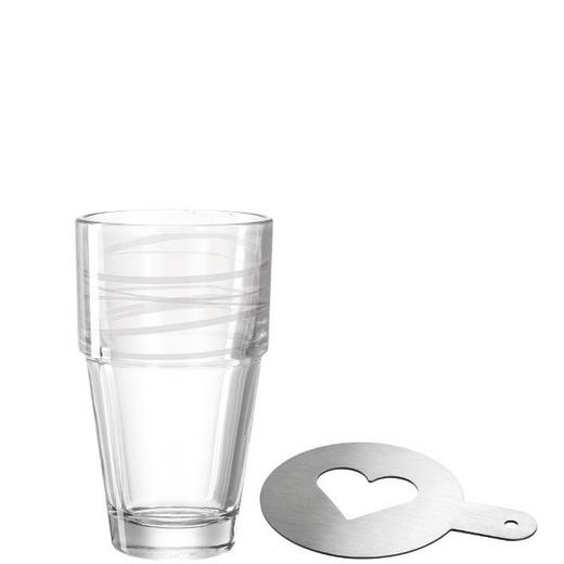 Latte-Macchiato-Set, 3-teilig - Transparent, Glas (17,3/15,2/8,3cm) - Leonardo