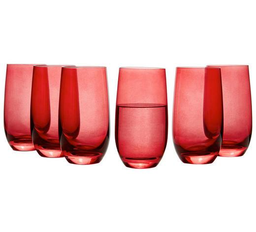 GLÄSERSET 6-teilig  - Rot, Basics, Glas (23,4/14,1/15,6cm) - Leonardo