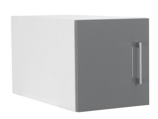 AUFSATZSCHRANK 30/32/57 cm Grau, Weiß - Chromfarben/Weiß, Design, Metall (30/32/57cm) - Welnova