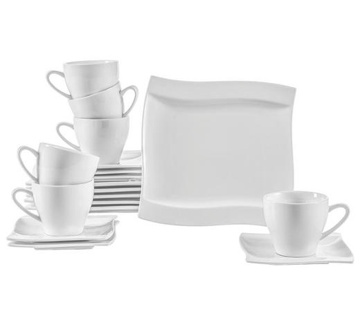 SERVIS KÁVOVÝ, 18dílné, porcelán - bílá, Basics, keramika - Novel