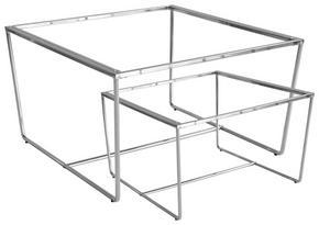 SATSBORD - kromfärg, Design, metall (75/70/43/35/75/70cm)