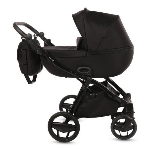 Piquetto Uni  Knorr-Baby Kinderwagenset  Schwarz - Schwarz, Basics, Textil/Metall (60/107/110cm)