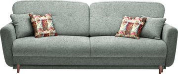 DREISITZER-SOFA in Textil Dunkelgrau - Dunkelgrau, Design, Holz/Textil (235/87/98cm) - Hom`in