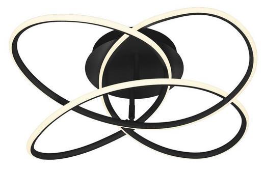 DECKENLEUCHTE - Schwarz/Weiß, Design, Kunststoff (60/18cm)