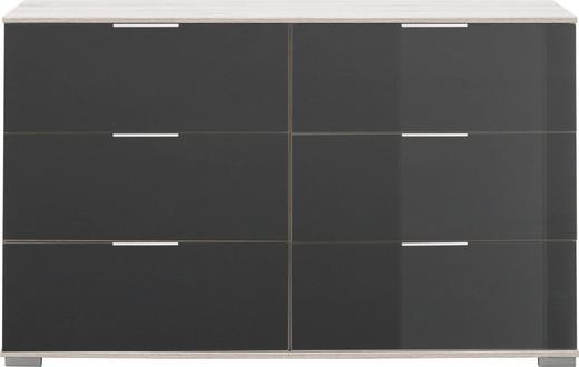 KOMMODE - Alufarben/Grau, Design, Glas/Holzwerkstoff (130 83 41cm) - Carryhome