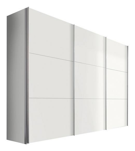 SCHWEBETÜRENSCHRANK 3-türig Weiß - Alufarben/Weiß, KONVENTIONELL, Holzwerkstoff/Metall (300/216/68cm) - Hom`in