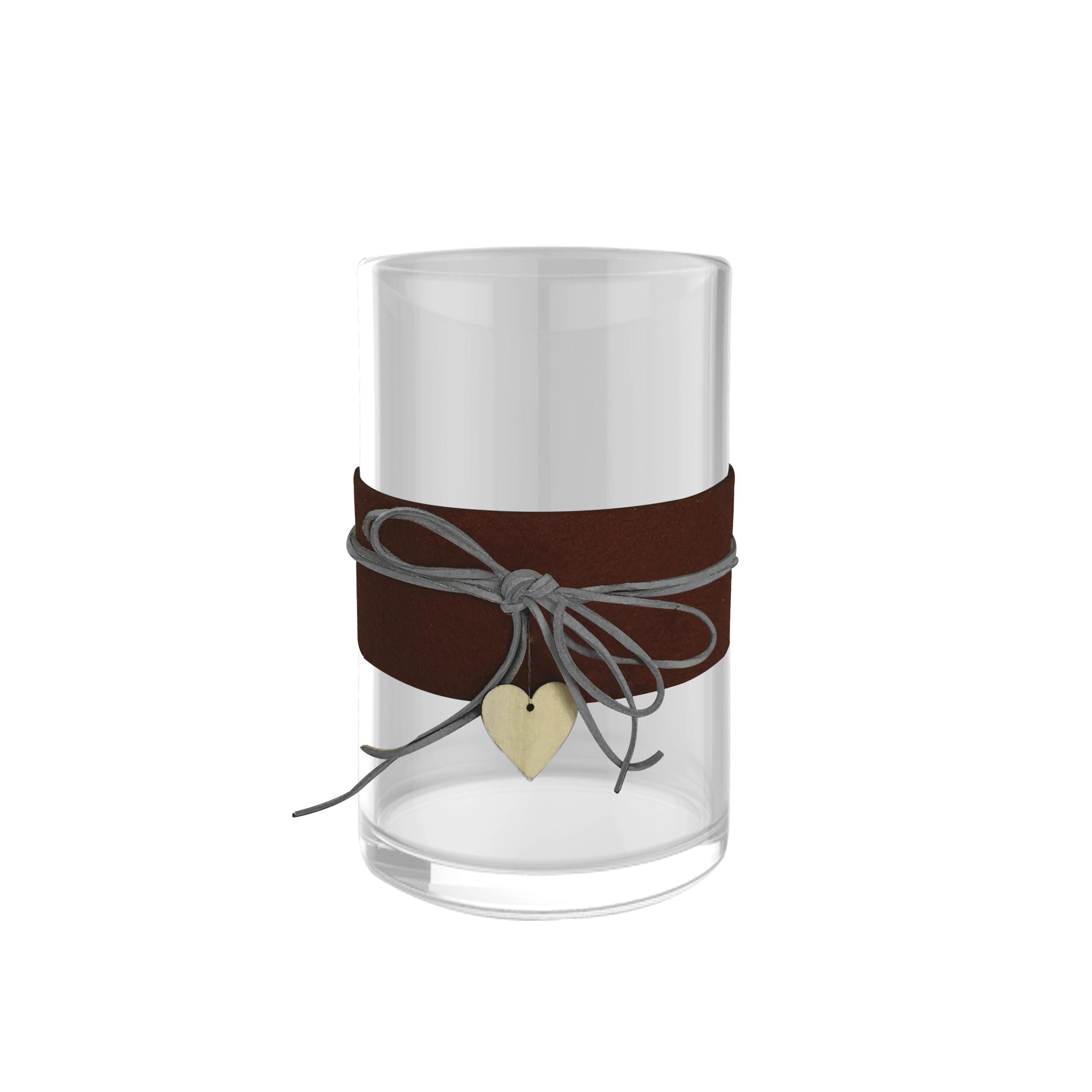 LJUSLYKTA - klar/beige, Basics, glas/textil (10,4/13,3cm) - Ambia Home