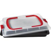 BACKBLECH - Transparent/Rot, Basics, Kunststoff/Metall (37.4/25.3/8.3cm) - Dr.Oetker