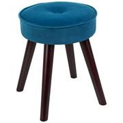TABURE - tamno smeđa/plava, drvni materijal/tekstil (30/39cm) - Ambia Home
