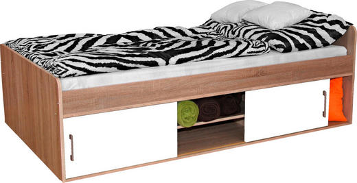 POSTEL - bílá/Sonoma dub, Konvenční, kompozitní dřevo (120/200cm)