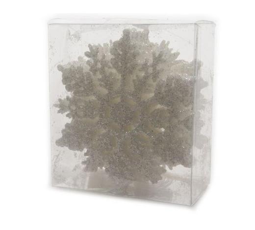 OZDOBA DEKORAČNÍ - bílá, Konvenční, umělá hmota (10cm)
