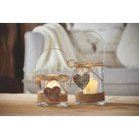 Windlicht - Klar/Naturfarben, Lifestyle, Glas (13/17cm) - Ambia Home