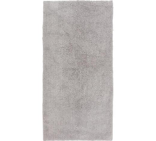 BADEMATTE in Silberfarben 70/120 cm - Silberfarben, Natur, Textil (70/120cm) - Linea Natura