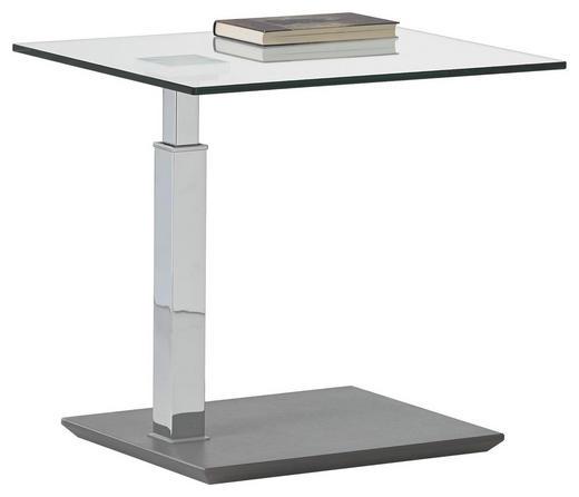 COUCHTISCH rechteckig - Design, Glas/Kunststoff (55/47-63/47cm)