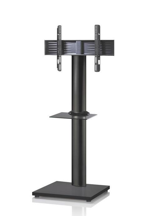 TV-RACK Glas, Metall Schwarz - Schwarz, KONVENTIONELL, Glas/Metall (68/174/60cm)