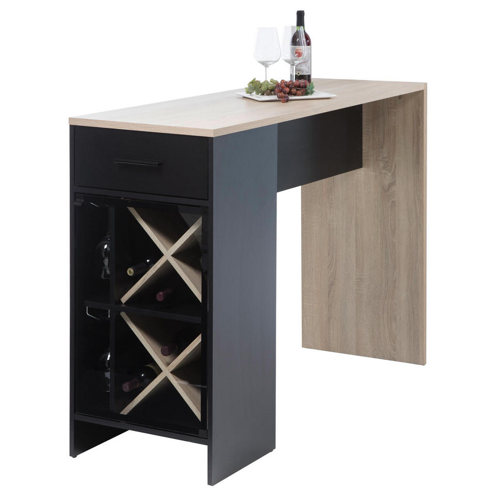 Barový Stůl Černá Barvy Dubu Carryhome - černá barvy dubu