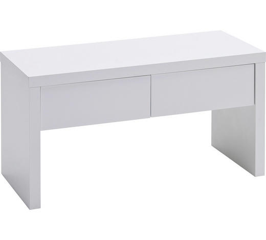 GARDEROBENBANK 91/48/38 cm - Weiß, Design, Holzwerkstoff (91/48/38cm) - Novel