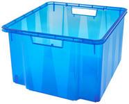 AUFBEWAHRUNGSBOX 38,5/39,5/24 cm - Blau, Basics, Kunststoff (38,5/39,5/24cm) - Homeware