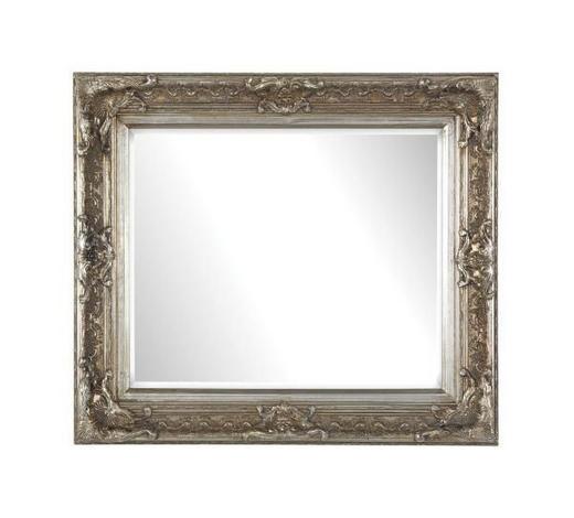 ZRCADLO, obdélníkové - barvy stříbra, Lifestyle, dřevo/sklo (80/70/6cm) - Landscape