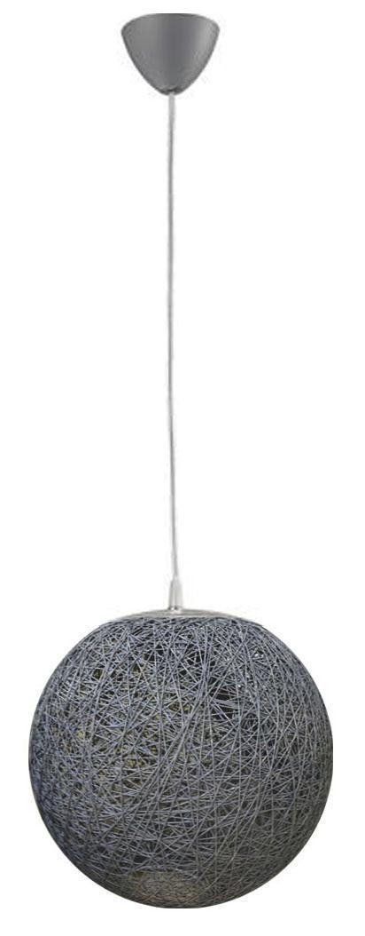 HÄNGELEUCHTE - Naturfarben/Grau, Basics, Kunststoff/Textil (35/135cm)