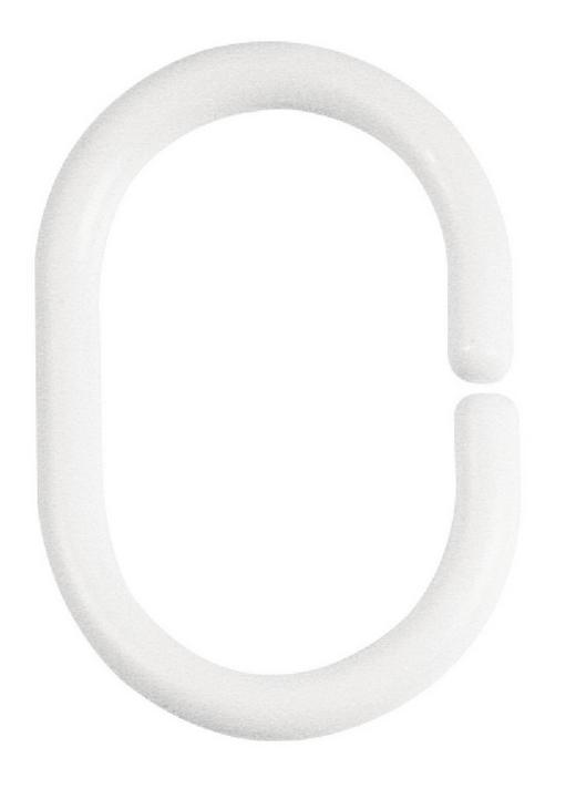 DUSCHVORHANGRINGE  Weiß - Weiß, Basics (6/4cm) - Spirella