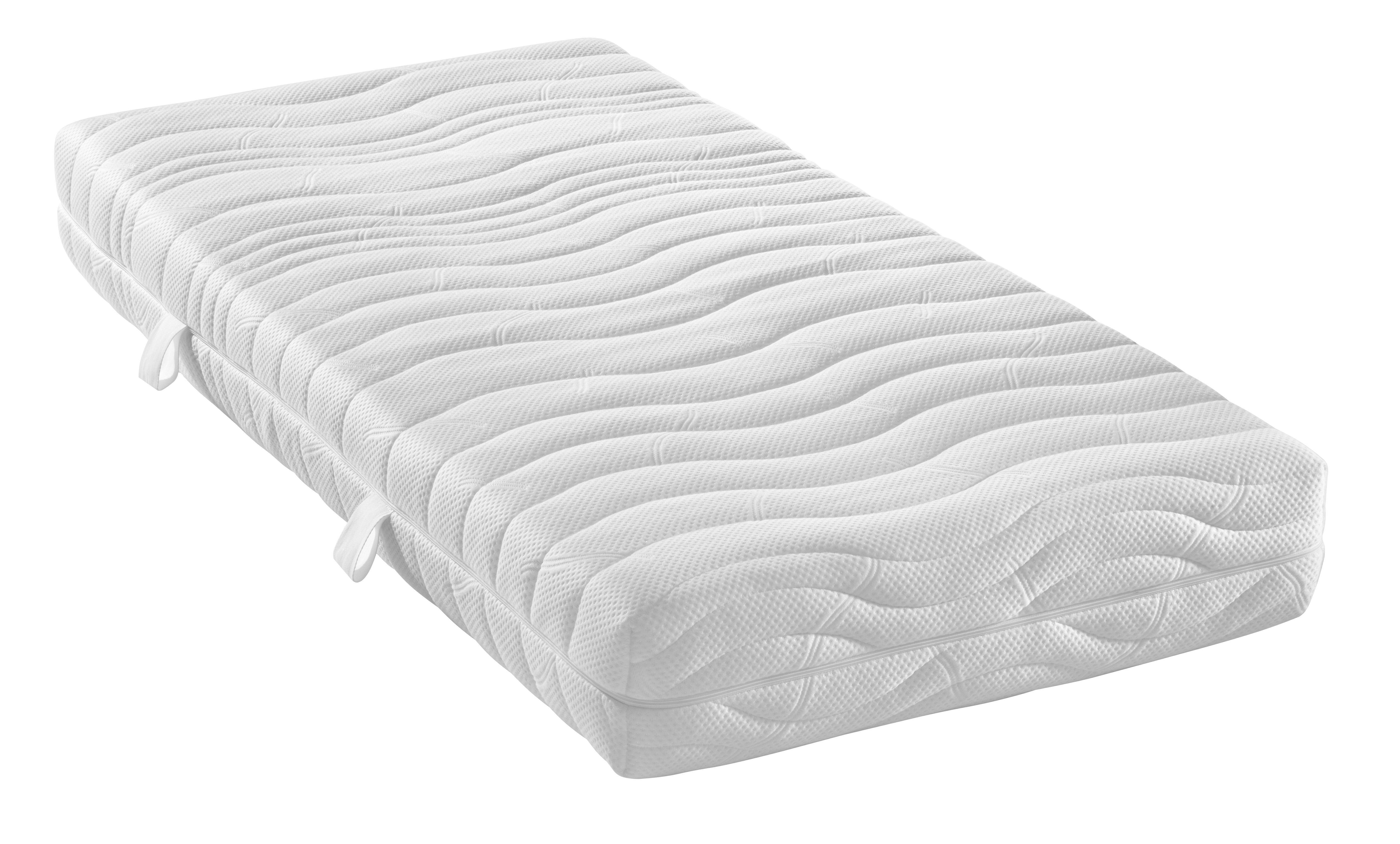 TASCHENFEDERKERNMATRATZE 90/200 cm - Weiß, Basics, Textil (90/200cm) - DIAMONA