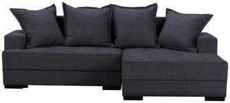 WOHNLANDSCHAFT in Textil Anthrazit  - Anthrazit/Schwarz, KONVENTIONELL, Holz/Textil (238/148cm) - Carryhome