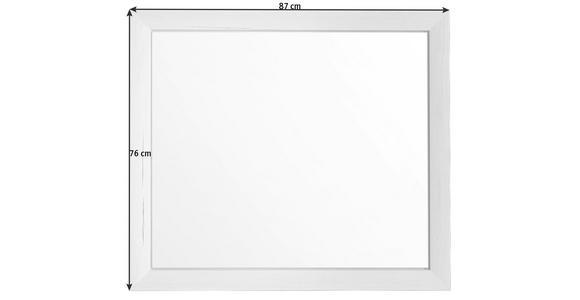 SPIEGEL 87/76/2,5 cm  - Weiß, LIFESTYLE, Glas/Holzwerkstoff (87/76/2,5cm) - Hom`in