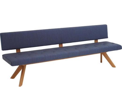 SITZBANK  in Blau, Eichefarben  - Blau/Eichefarben, Design, Holz/Textil (240cm) - Team 7