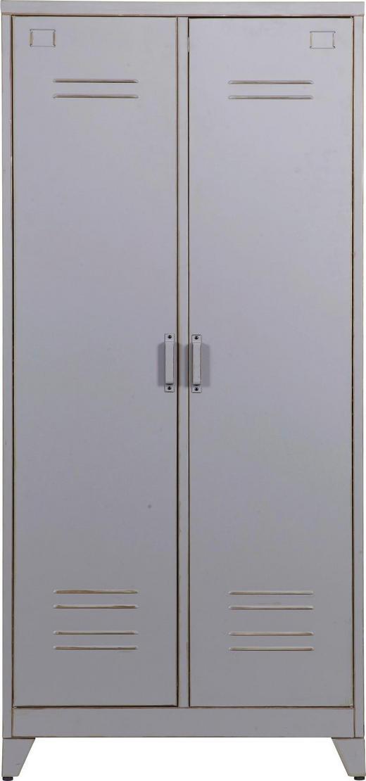 SCHRANK Grau - Grau, Design, Metall (85/182/50cm) - Carryhome